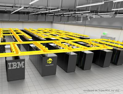 Охлаждение суперкомпьютеров с помощью горячей воды IBM SuperMUC