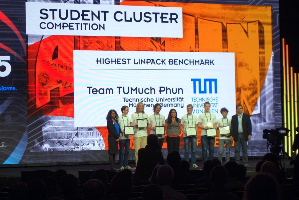 Команда техуниверситета Мюнхена победила в дисциплине Linpack на системе РСК на SC15