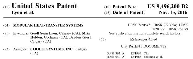 CoolIT Systems получила патент на модульное теплопередающее решение