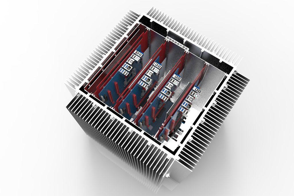 ECS тестирует серверное шасси с жидкостным охлаждением RuggedPOD