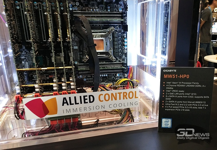 SC17: Погружной сервер Gigabyte и Allied Control